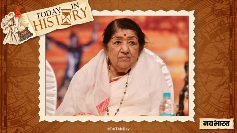 today-in-history 28 September-Lata Mangeshkar's birthday