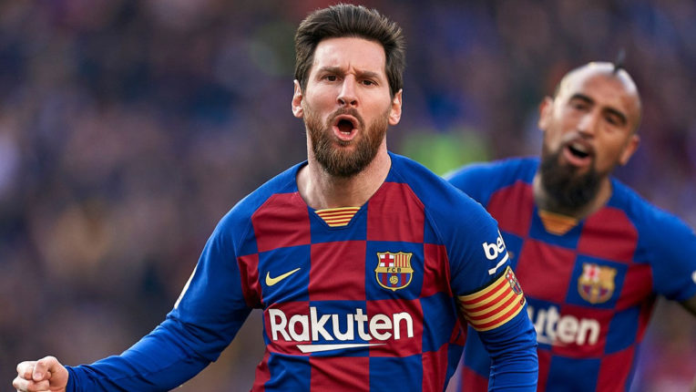 Spanish League Messi's goal in Barcelona win