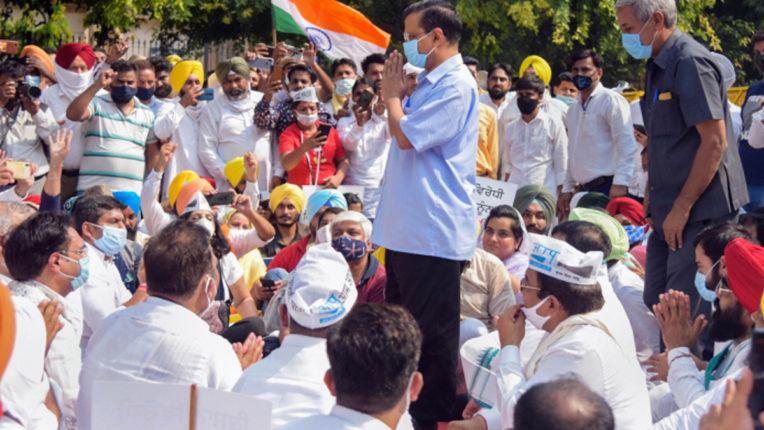 AAP, Kejriwal joins AAP Protest