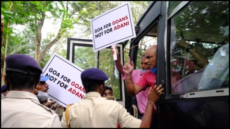AAP worker protesting near Sawant's residence in custody
