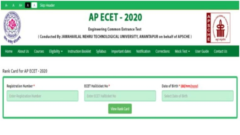 AP ECET rank card 2020 released on sche.ap.gov.in