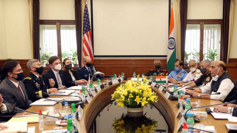 US Secretary of State Mark Asper-Rajnath Singh meets amidst tension with China