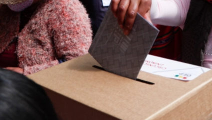 Voting for presidential election in Bolivia
