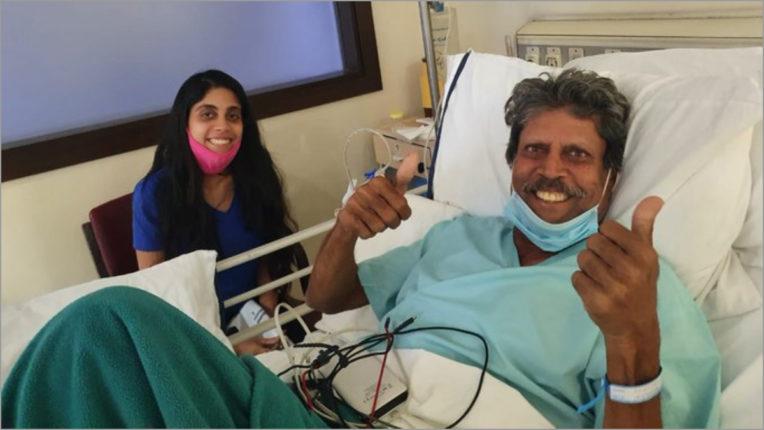 Chetan Sharma, sharing the picture of Kapil Dev, wrote, 'Pa ji is fine now'