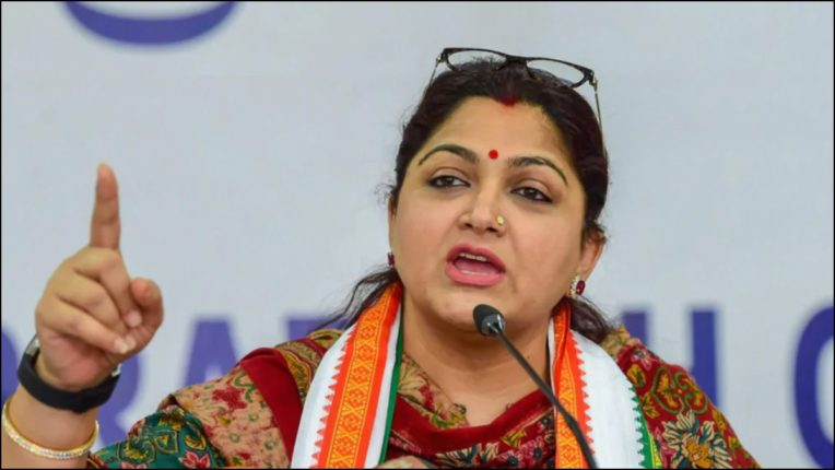 Congress removed Khushboo Sundar from the post of spokesperson