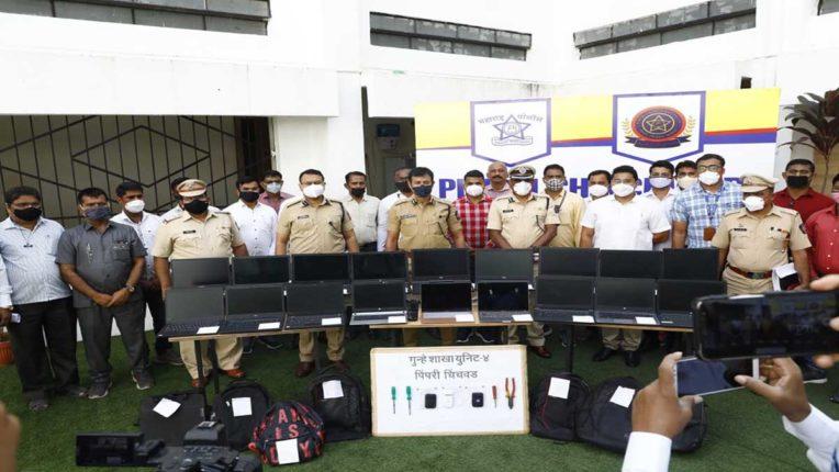 लैपटॉप चुराने वाली गैंग पर शिकंजा, 3 गिरफ्तार