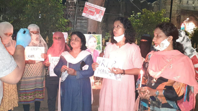 Demand to give justice to Hathras victim