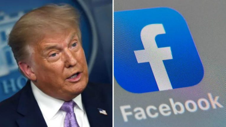 Facebook removes fake accounts posting in support of Trump