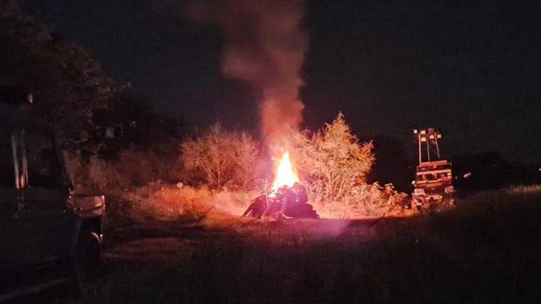 Hathras Gang Rape, Victim's Body Burn