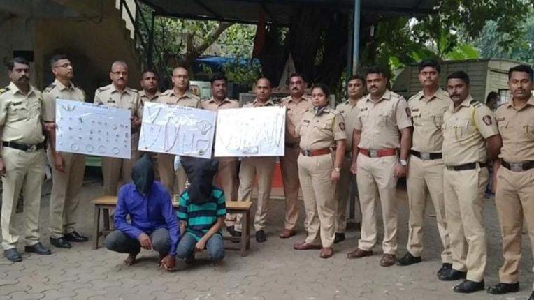 विरार पुलिस के हत्थे चढ़े 2 शातिर चोर