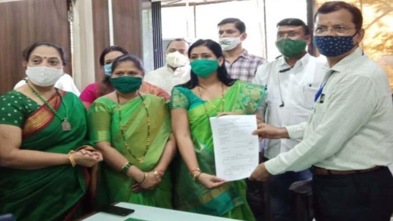 मीरा-भायंदर मनपा प्रभाग समिति सभापति पद के लिए भरे गए पर्चे