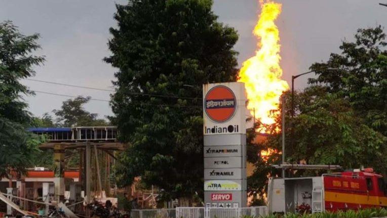 Indian Oil Petrol Pump Fire