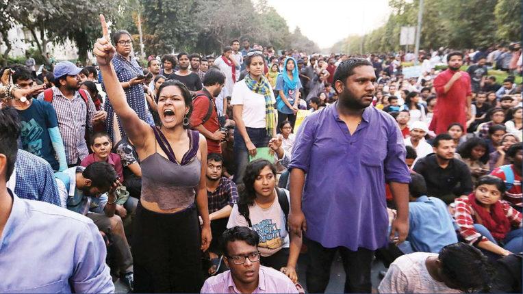JNU प्रशासन की आंदोलनकारी छात्रों को चेतावनी, 'सड़क से तत्काल धरना हटाओ'