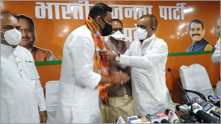 MLA Rahul Lodhi resigns before MP by-election, joins BJP