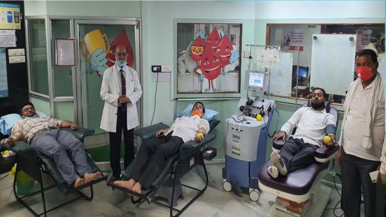 विकास फाउंडेशन की ओर से आज प्लाज्मा और रक्तदान शिविर