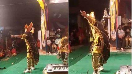 रावण ने पंजाबी गाने पर जमकर किया भांगड़ा, लोग बोले वाह क्या स्वैग है!