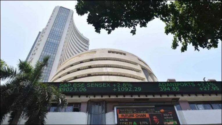 Sensex gained 396 points in early trade, Nifty crossed 12,000 mark.