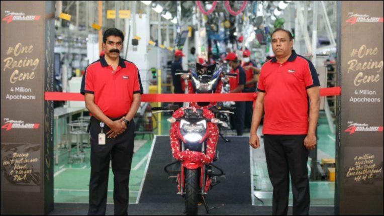 TVS Motor's Apache sales exceed 4 million units