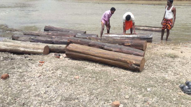 Teak smuggling becomes an easy way for waterways