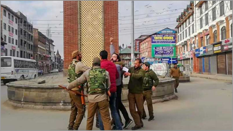 Three detained for attempting to hoist the tricolor at Lal Chowk in Srinagar