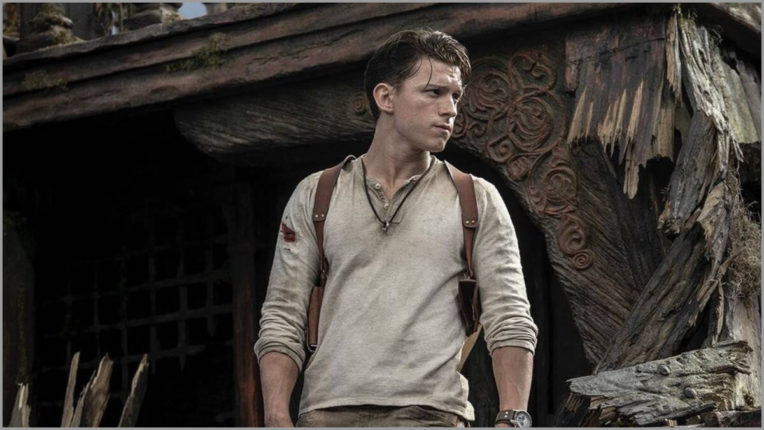 Tom Holland shares his first look from the film Uncharted