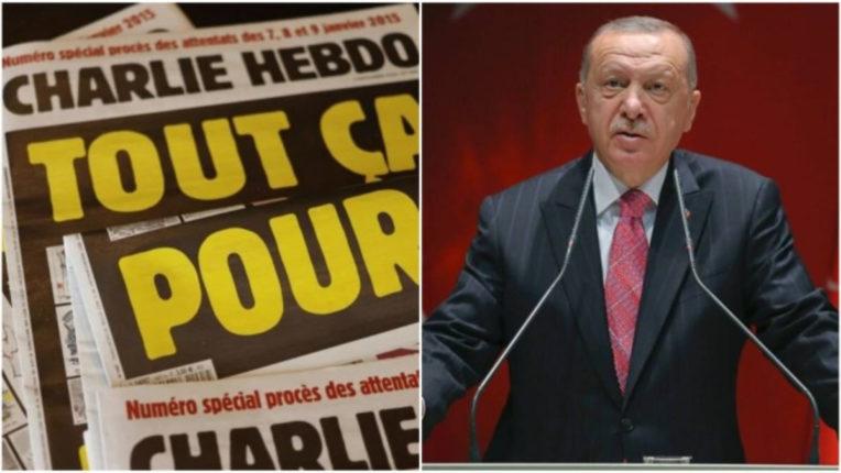 Cartoon of Turkish President printed in France magazine Charlie Hebdo, created ruckus