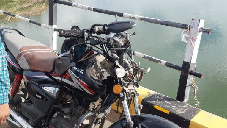 वैनगंगा नदी के पुल पर हुई दुर्घटना, दुपहिया सवार पुल से गिरा नीचे