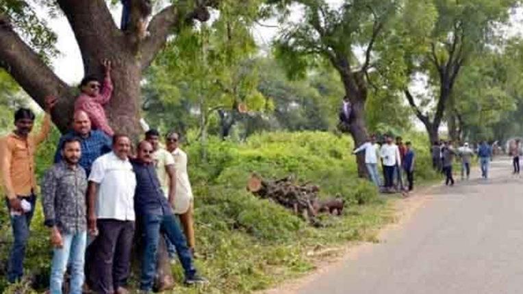 पेड़ कटाई के खिलाफ, वंचित बहुजन आघाड़ी ने किया 'चिपको आंदोलन'