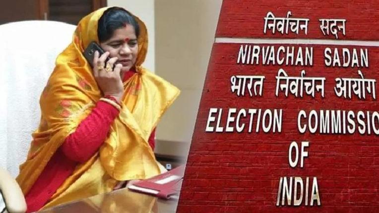 निर्वाचन आयोग ने मध्यप्रदेश में भाजपा उम्मीदवार इमरती देवी को नोटिस जारी किया