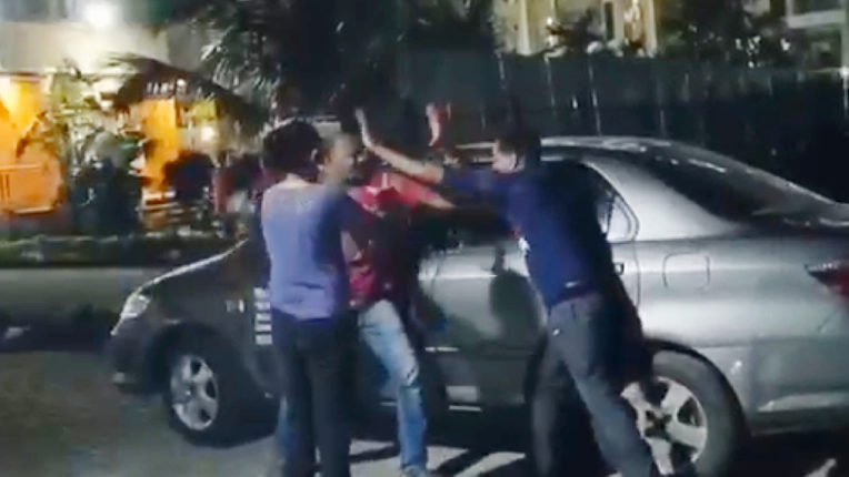 A minor quarrel led to fierce fighting in the society