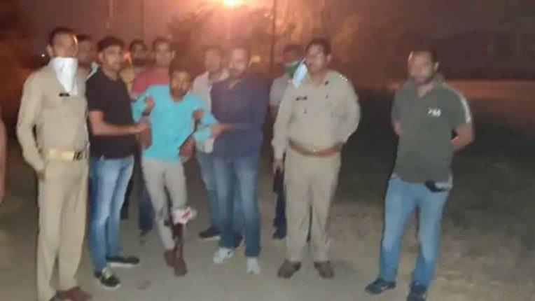 मुठभेड़ के बाद नौ बदमाश गिरफ्तार, एक के पैर में गोली लगी