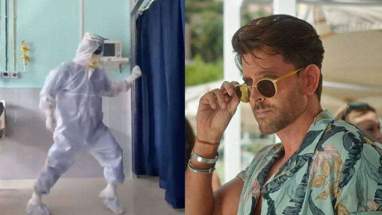 hrithik-roshan-reaction-on-dr-dance-video-on-ghungroo-song-doctor-wearing-ppe-kit