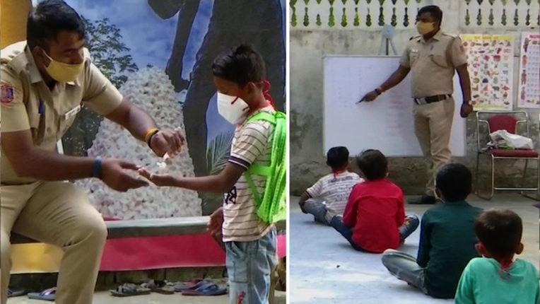 गरीब बच्चों को फ्री में पढ़ा रहा दिल्ली पुलिस कॉन्सटेबल 'थान सिंह'