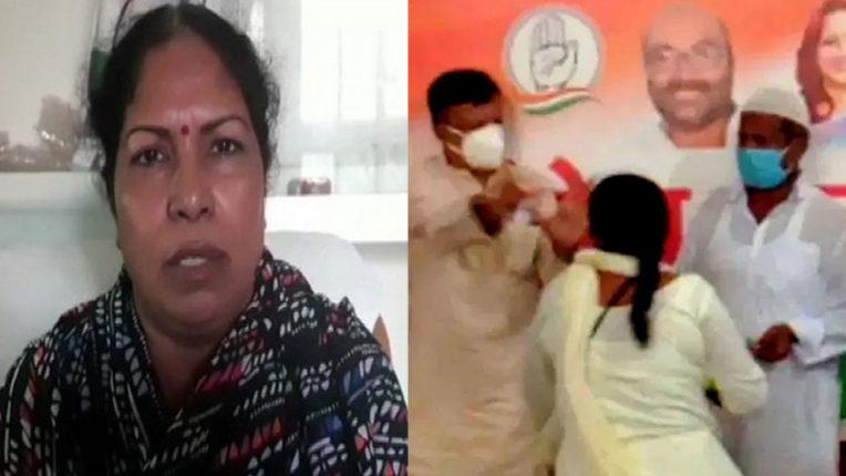 party-ticket-being-given-to-rapist-congress-worker-thrashed-in-uttar-pradeshs-deoria