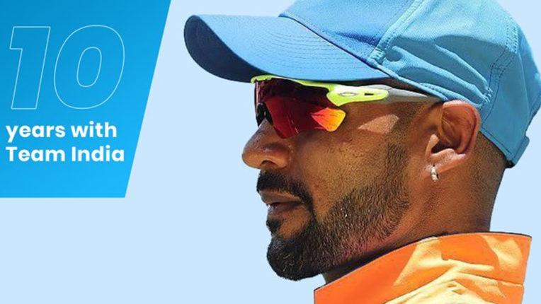 शिखर धवन के Team India में 10 साल, सोशल मीडिया पर लिखा इमोशनल मैसेज