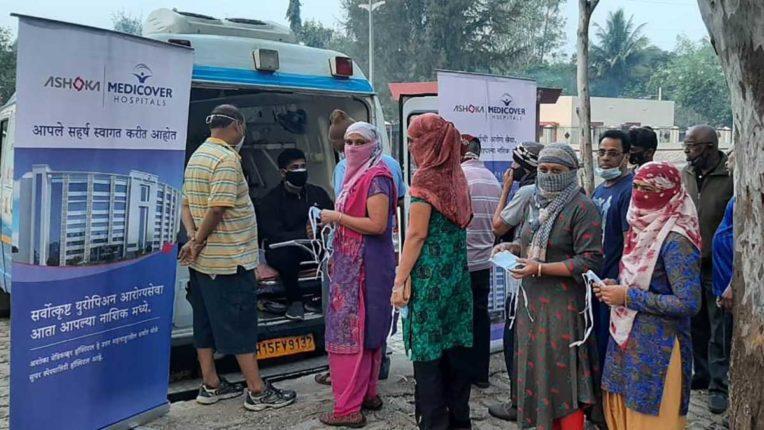 निशुल्क स्वास्थ्य जांच शिविर, अशोका मेडिकवर अस्पताल की पहल