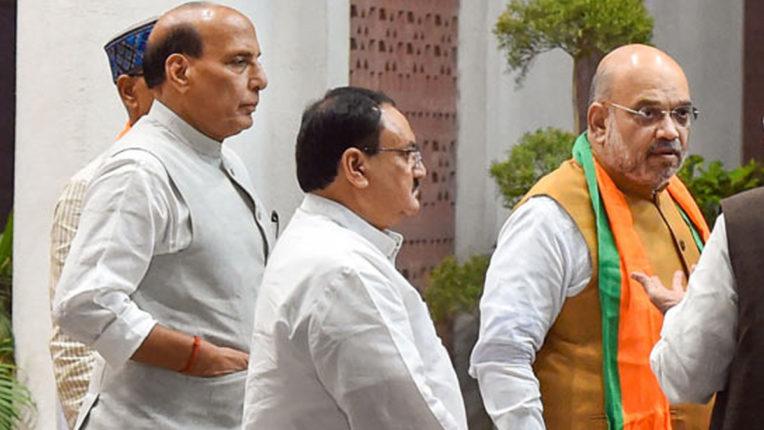 Amit Shah, rajnath Singh and JP Nadda