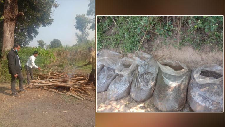पुलिस ने नष्ट की देशी शराब की चार भट्टियां