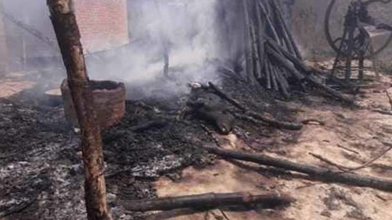 Cattle shed fire