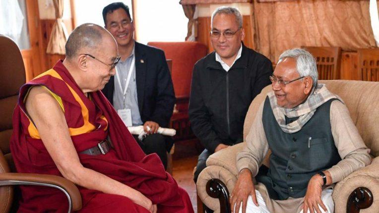 Dalai Lama and Nitish Kumar