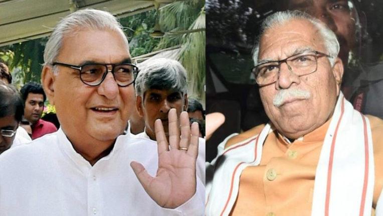 Ex-Haryana CM Bhupinder Singh Hooda and Khattar
