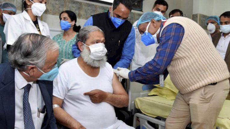Haryana minister Anil Vij took dose of Covid vaccine