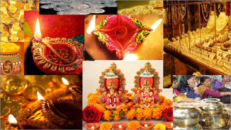 Market rose in Dhanteras before Diwali, sales of coins and light jewelery increased