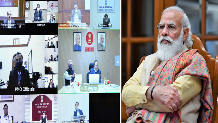 PM Modi Reviews COVID-19 Vaccine
