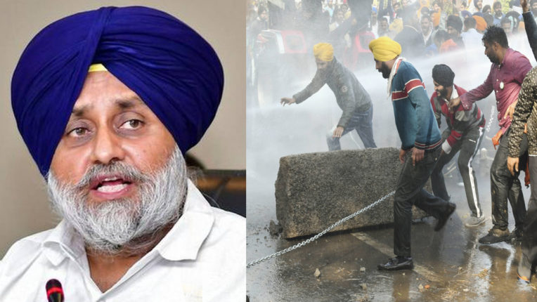 Sukhbir Singh Badal on farmers March