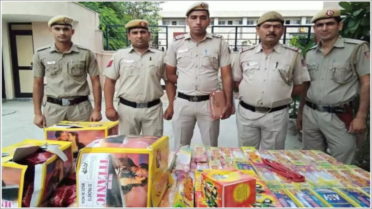 Three arrested for illegally selling firecrackers in UP
