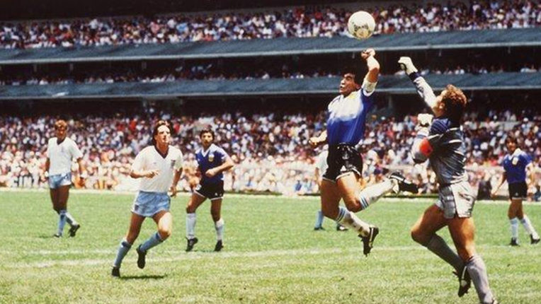 What is the story of 'Hand of God', which makes England players cry