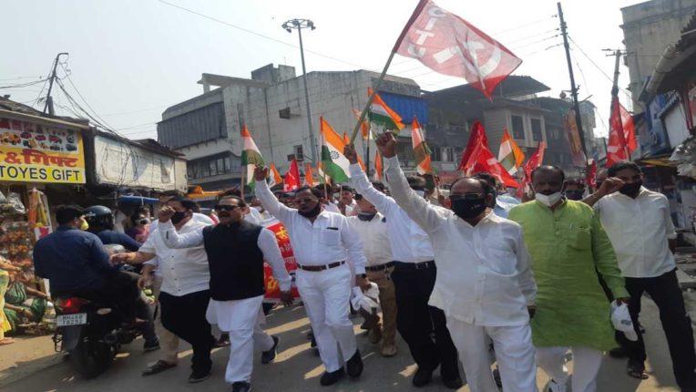 मोदी सरकार के खिलाफ उरण-पनवेल में प्रदर्शन