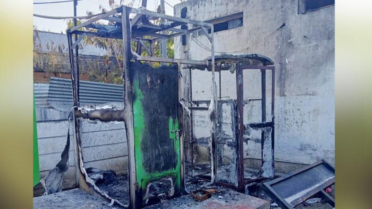 आग से नम्मा टॉयलेट का चेंजिंग रूम खाक