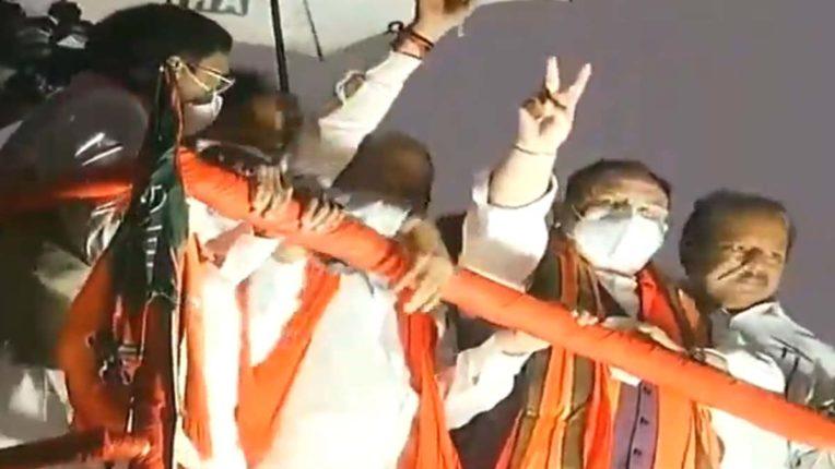 """हैदराबाद रोड शो: जेपी नड्डा ने कहा, """"अब बीजेपी की बारी"""""""